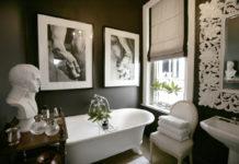Baños negros con cuadros