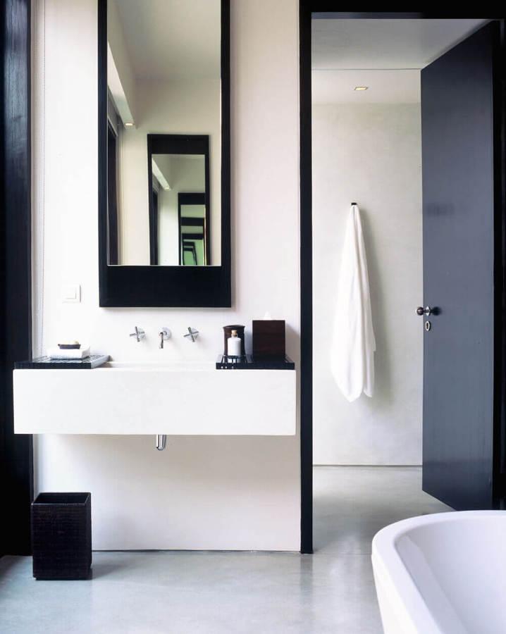 Baños negros - espejos