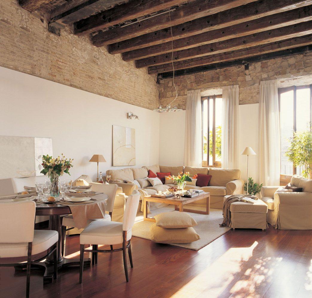 Salones rústicos - sofá