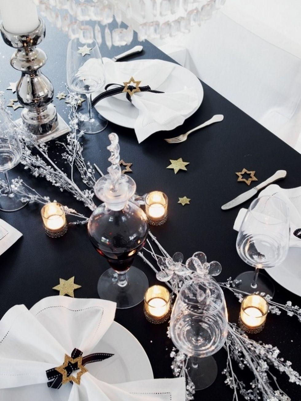 Nochevieja - adornos mesa