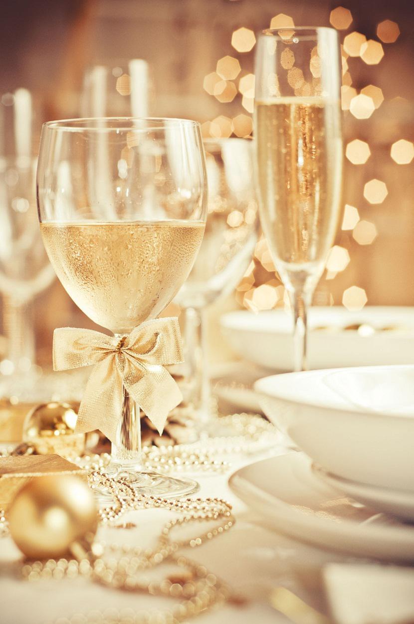 Nochevieja - cristalería de gala