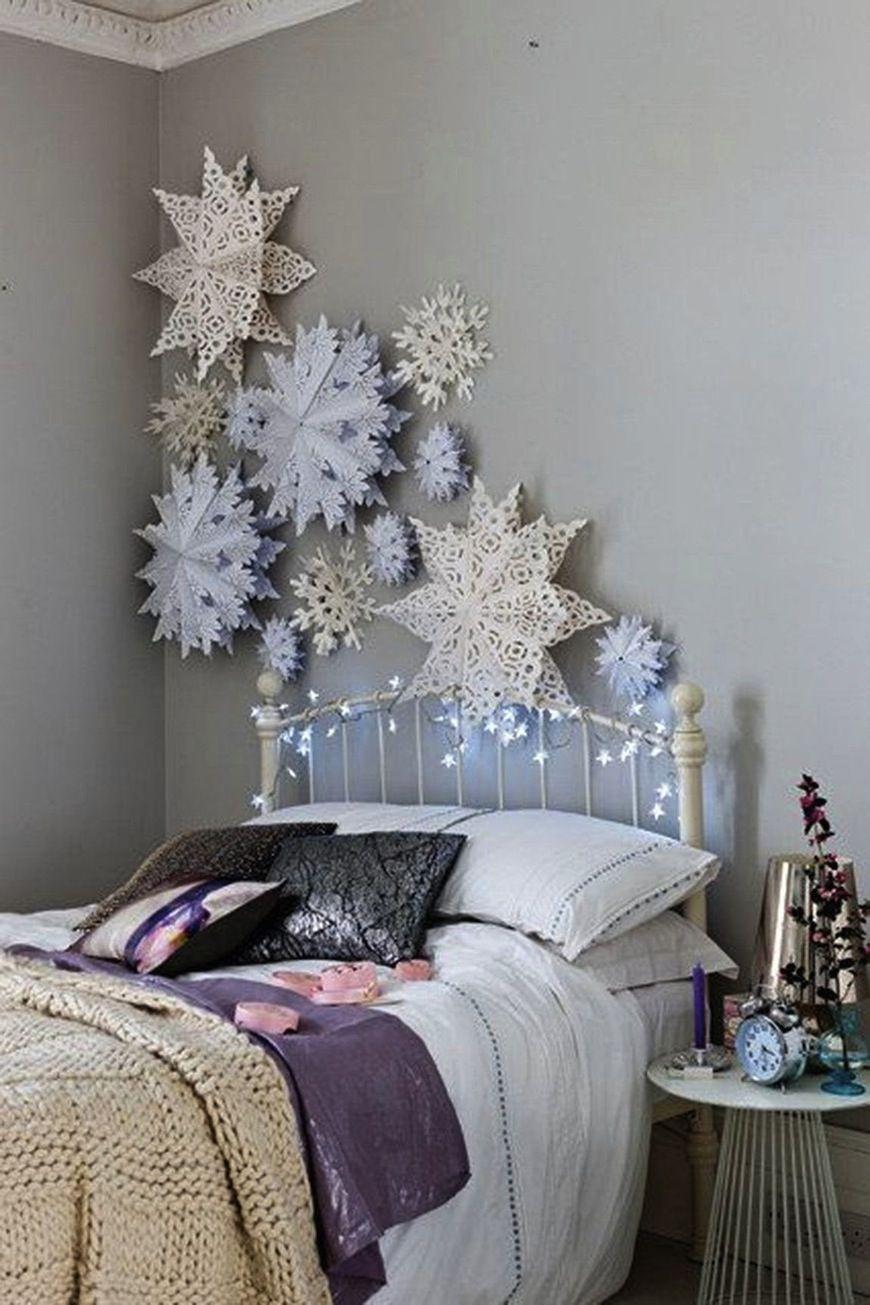 Arreglos navideños en el dormitorio