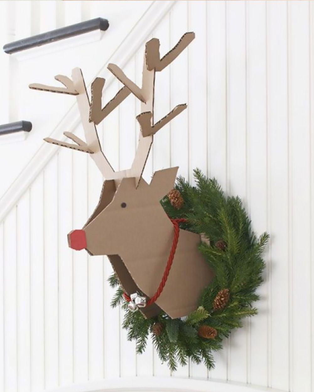 Arreglos navideños - cabeza de reno