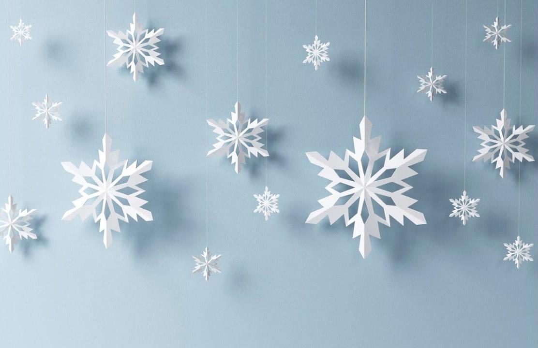 Arreglos navideños - copos de nieve