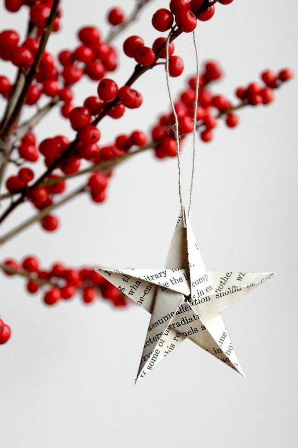 Arreglos navideños - estrellas de papel