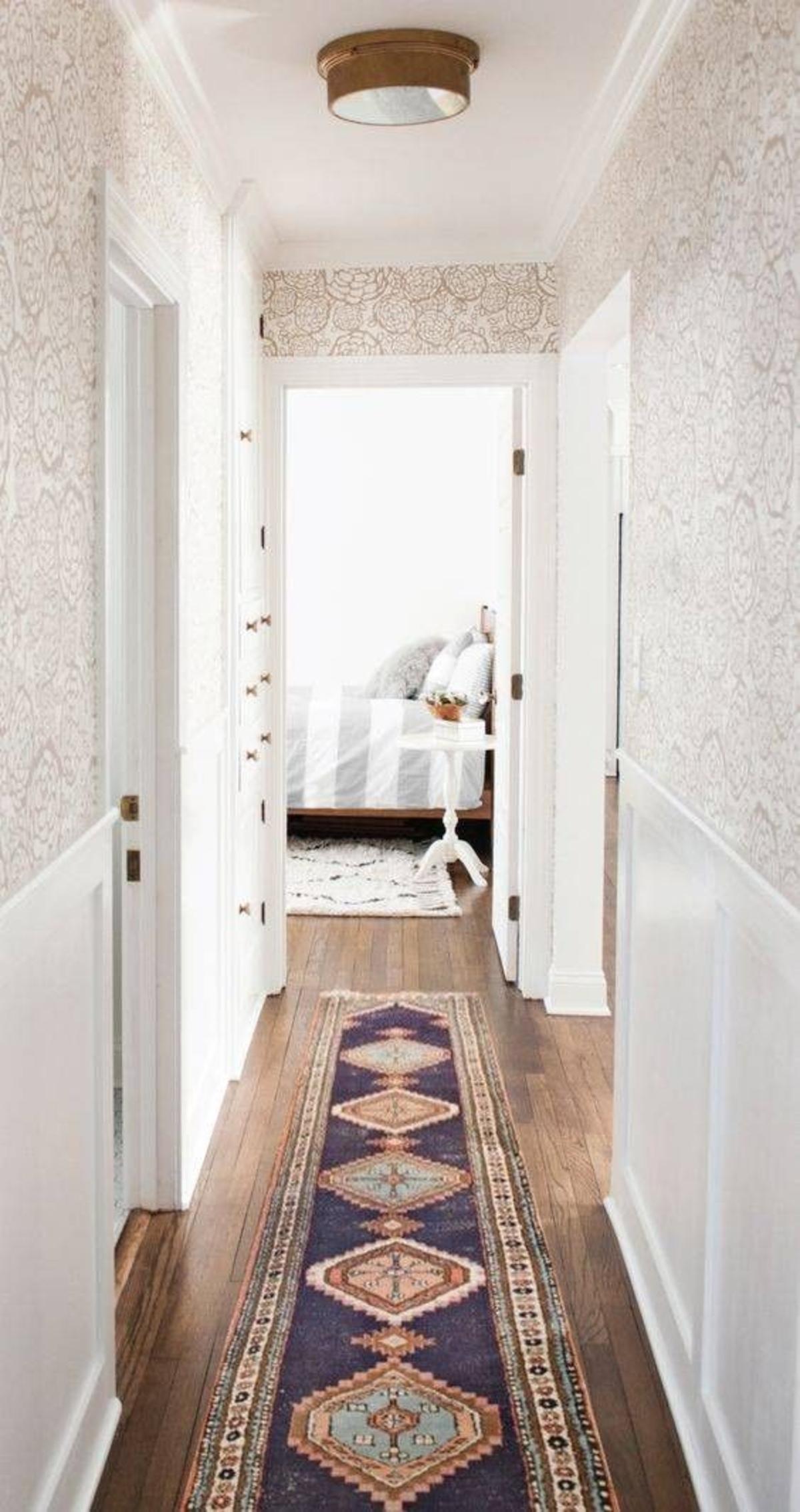 Decoración de pasillos- alfombras de colores