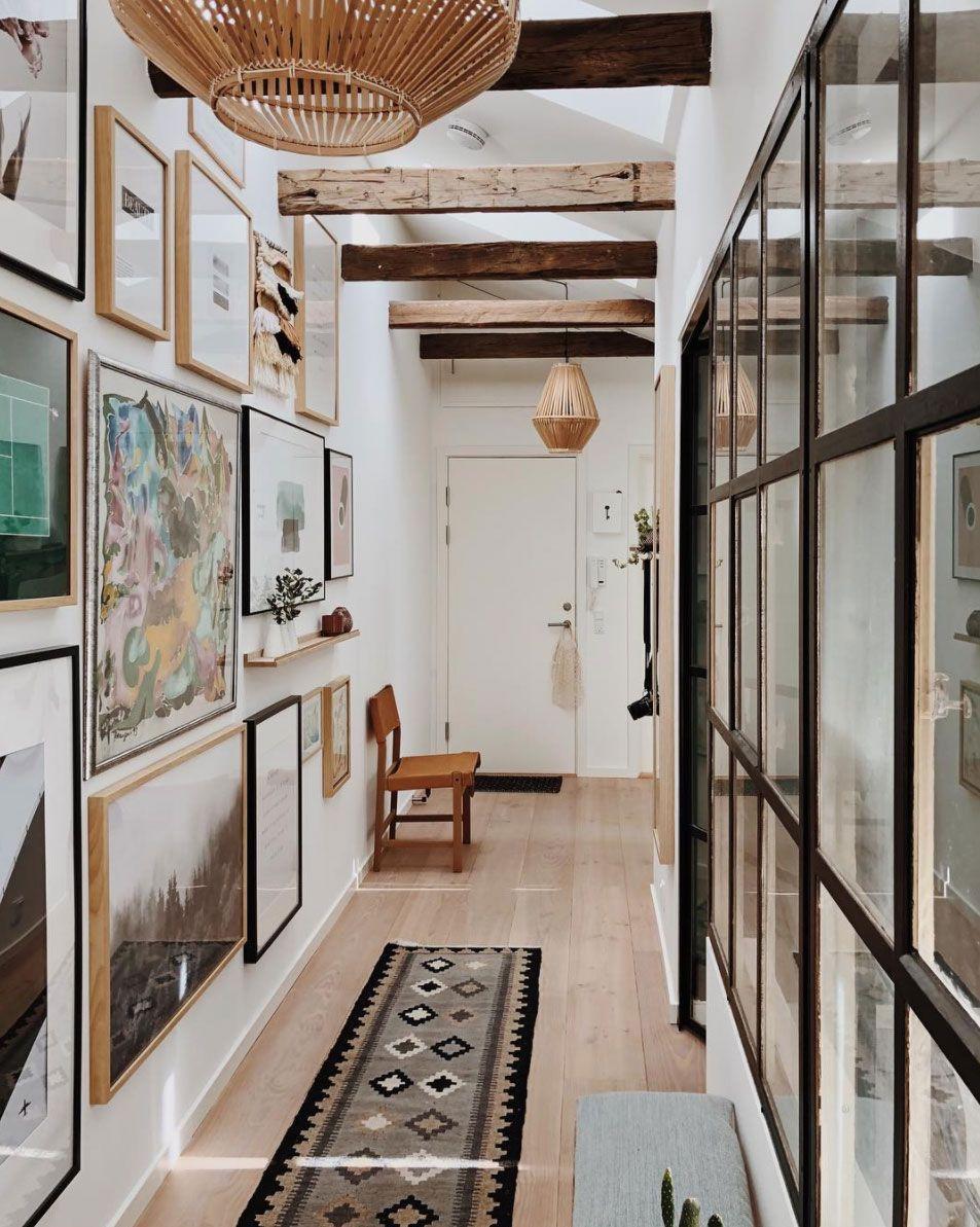 Decoración de pasillos - estilo bohemio