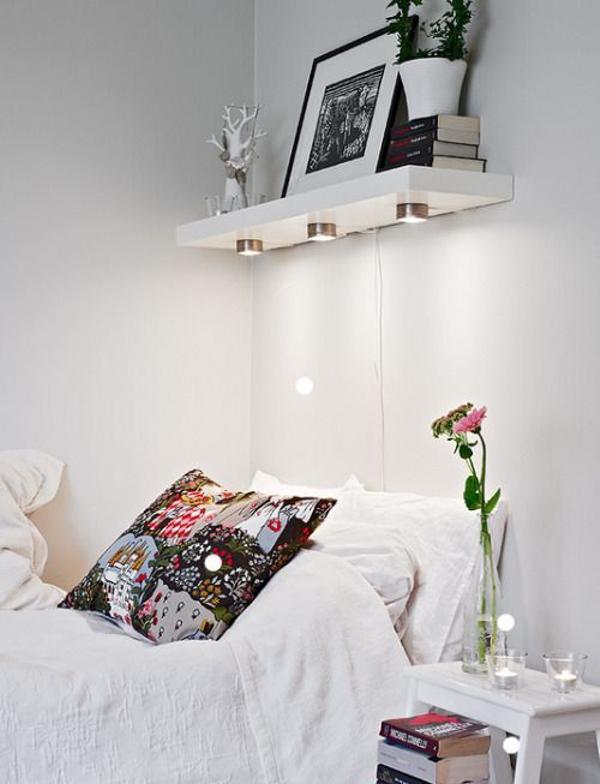 dormitorios - estantes encima de la cama