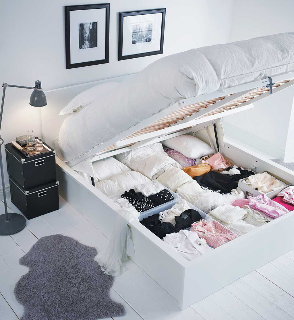dormitorios - almacenaje debajo de la cama