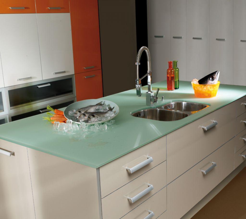 encimeras de cocina de vidrio