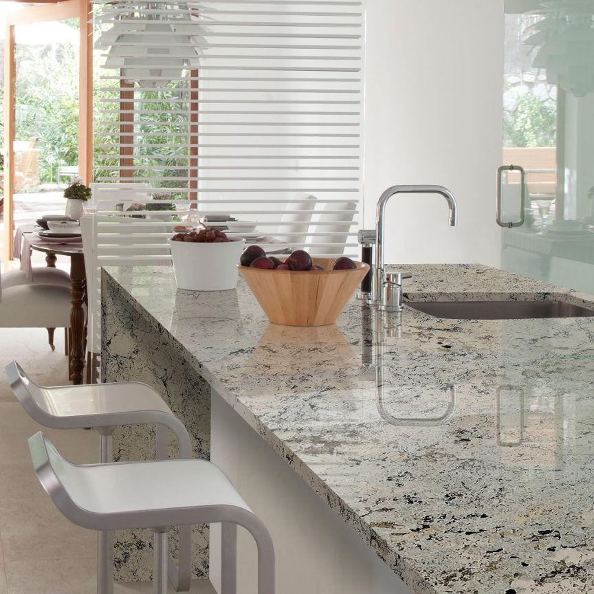 encimeras de cocina de granito claro
