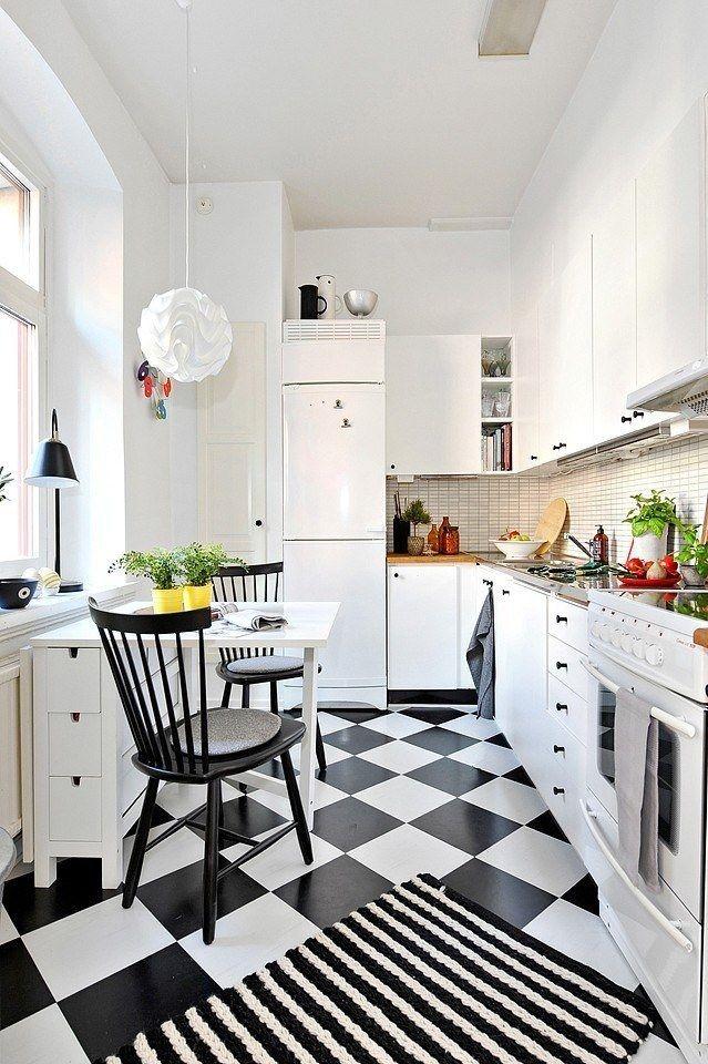 cocinas pequeñas - mesas plegables