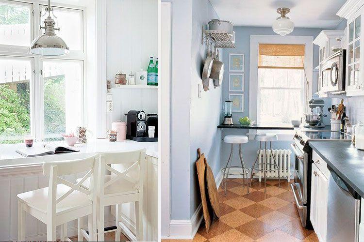 cocinas pequeñas - office bajo ventana