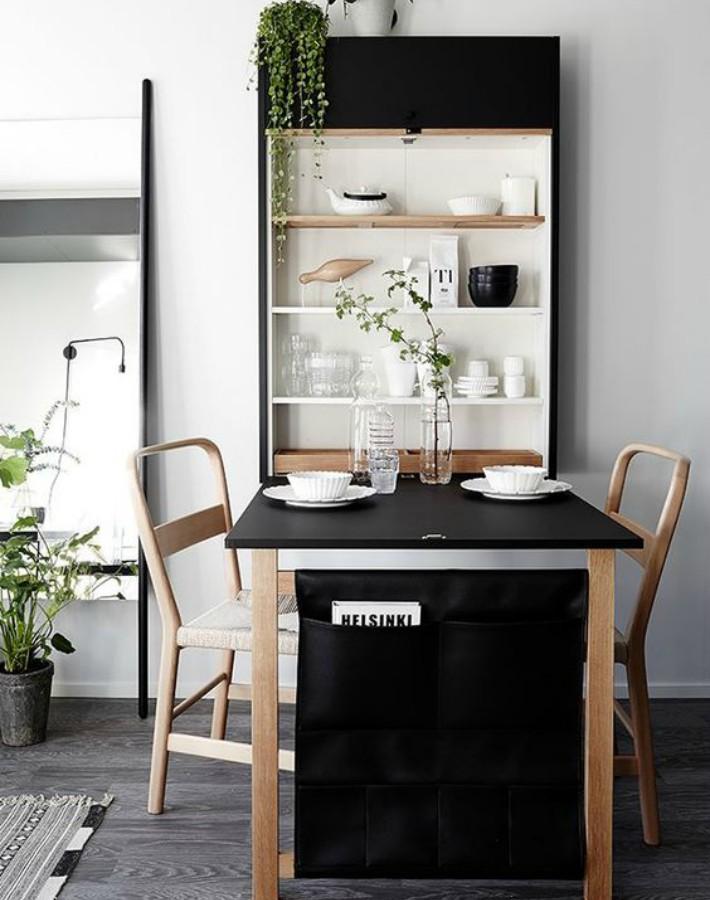 cocinas pequeñas - muebles funcionales