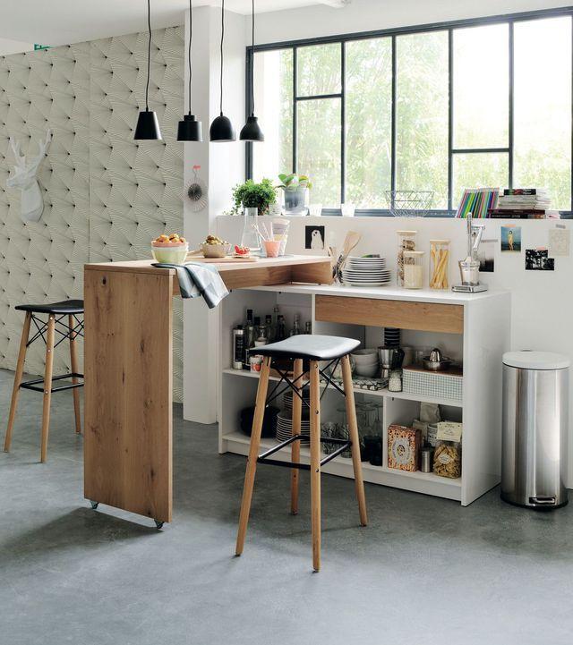 cocinas pequeñas-mobiliario con barras incluidas