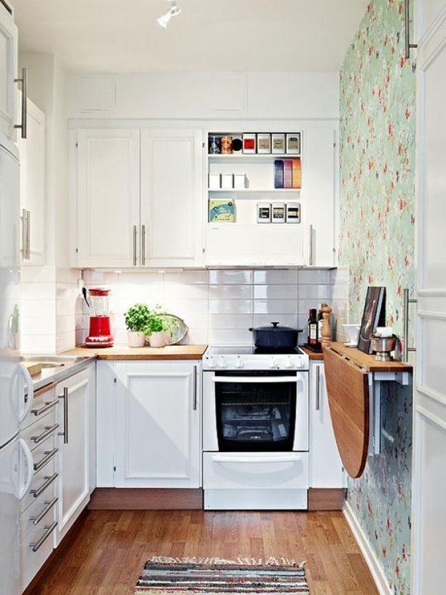 cocinas pequeñas - barras abatibles