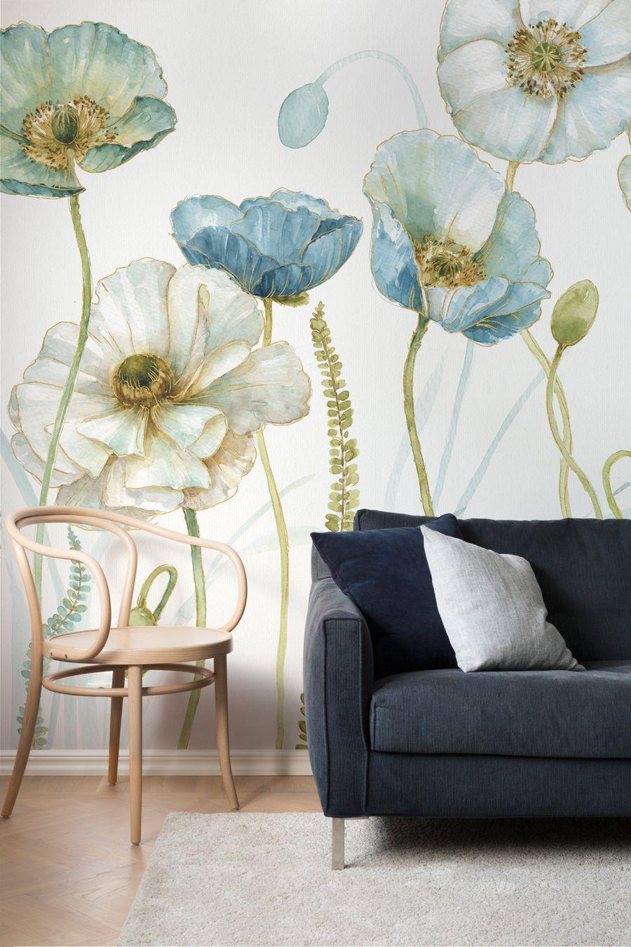 papel pintado - flores oversize