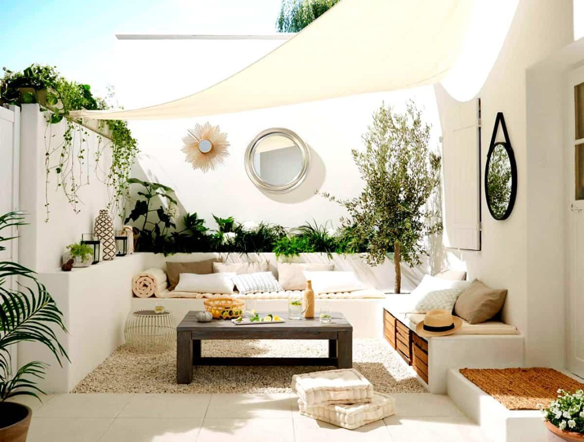 como crear sombra en el jardin o la terraza 12