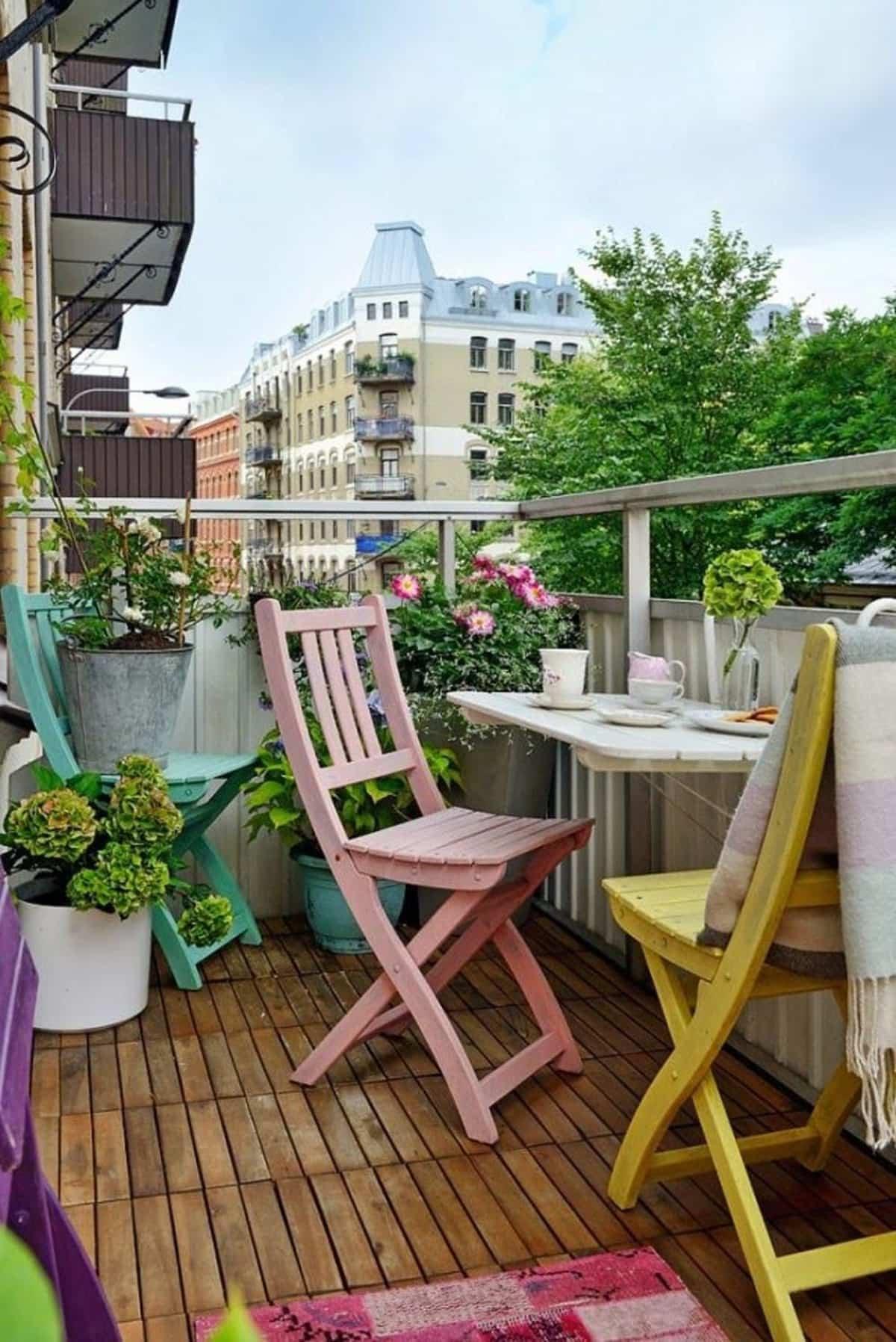 ideas para la decoracion de balcones pequenos 18