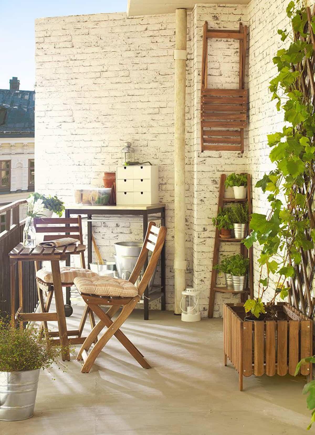 ideas para la decoracion de balcones pequenos 2