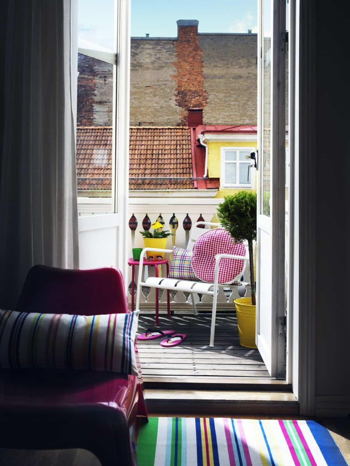 ideas para la decoracion de balcones pequenos 20