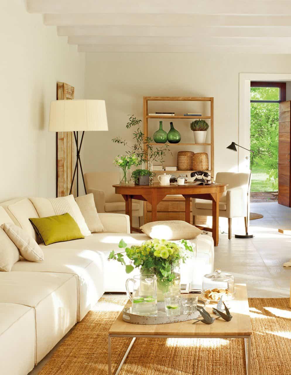 combinar mesa de centro con distintos tipos de sofa 1