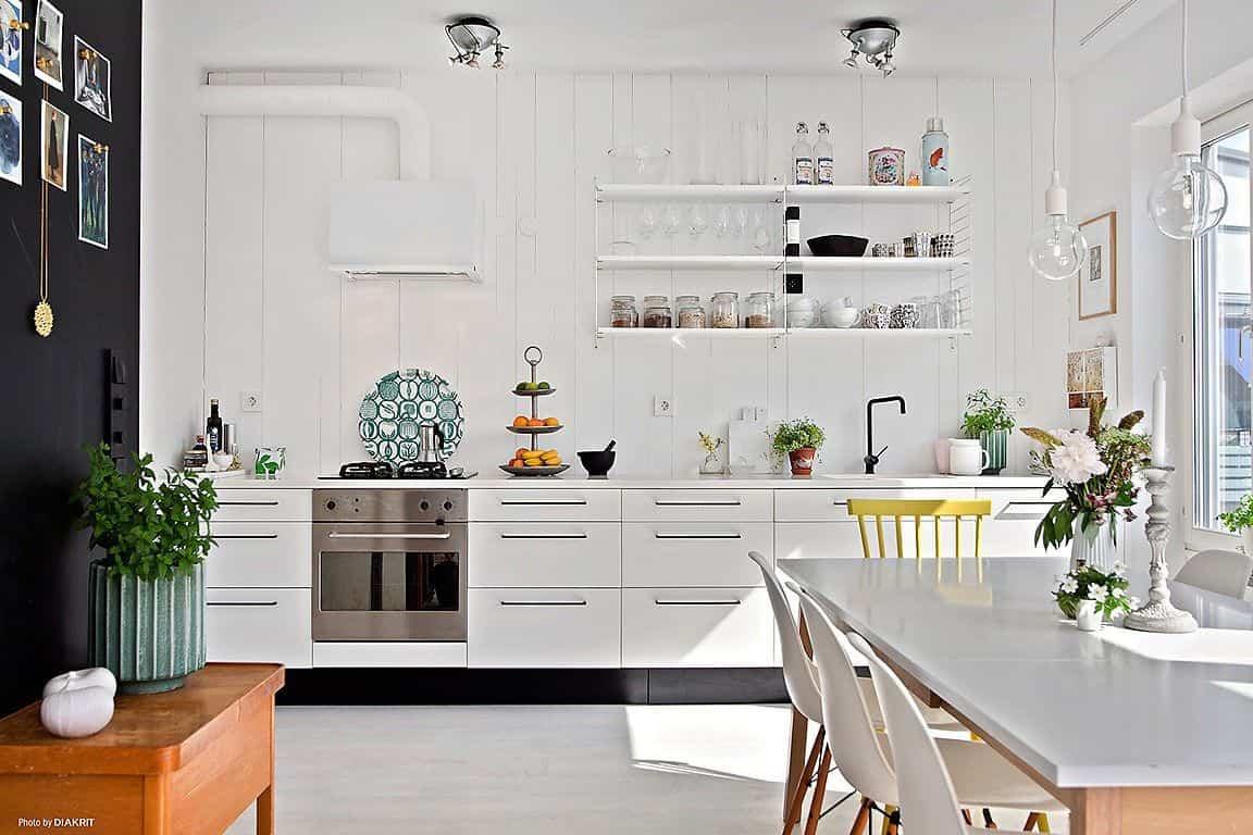 como decorar una cocina de estilo nordico 14