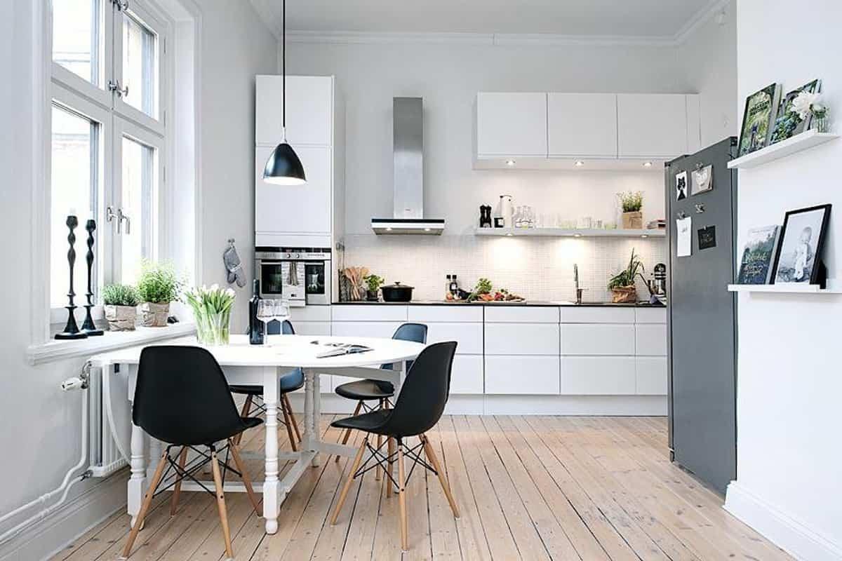 como decorar una cocina de estilo nordico 6