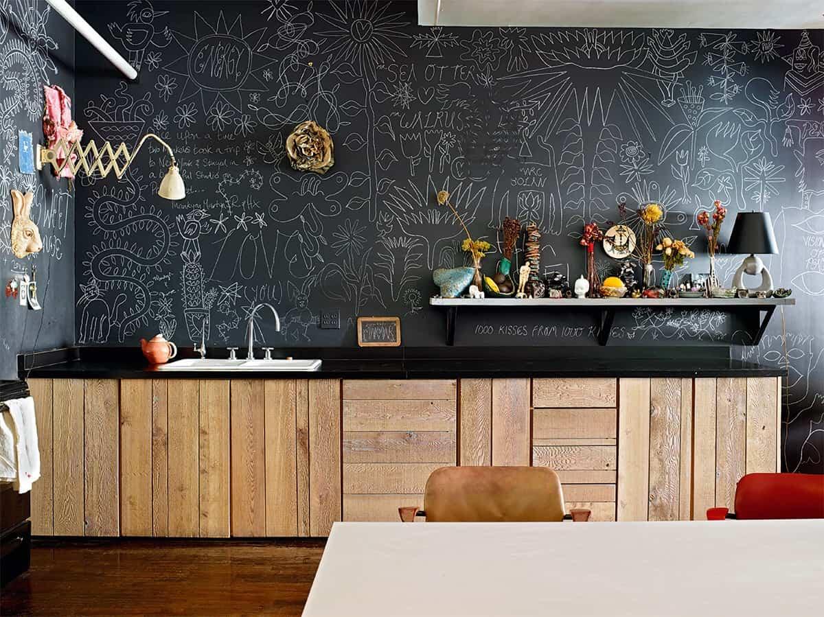 pintura de pizarra ideas y consejos para decorar la casa 1