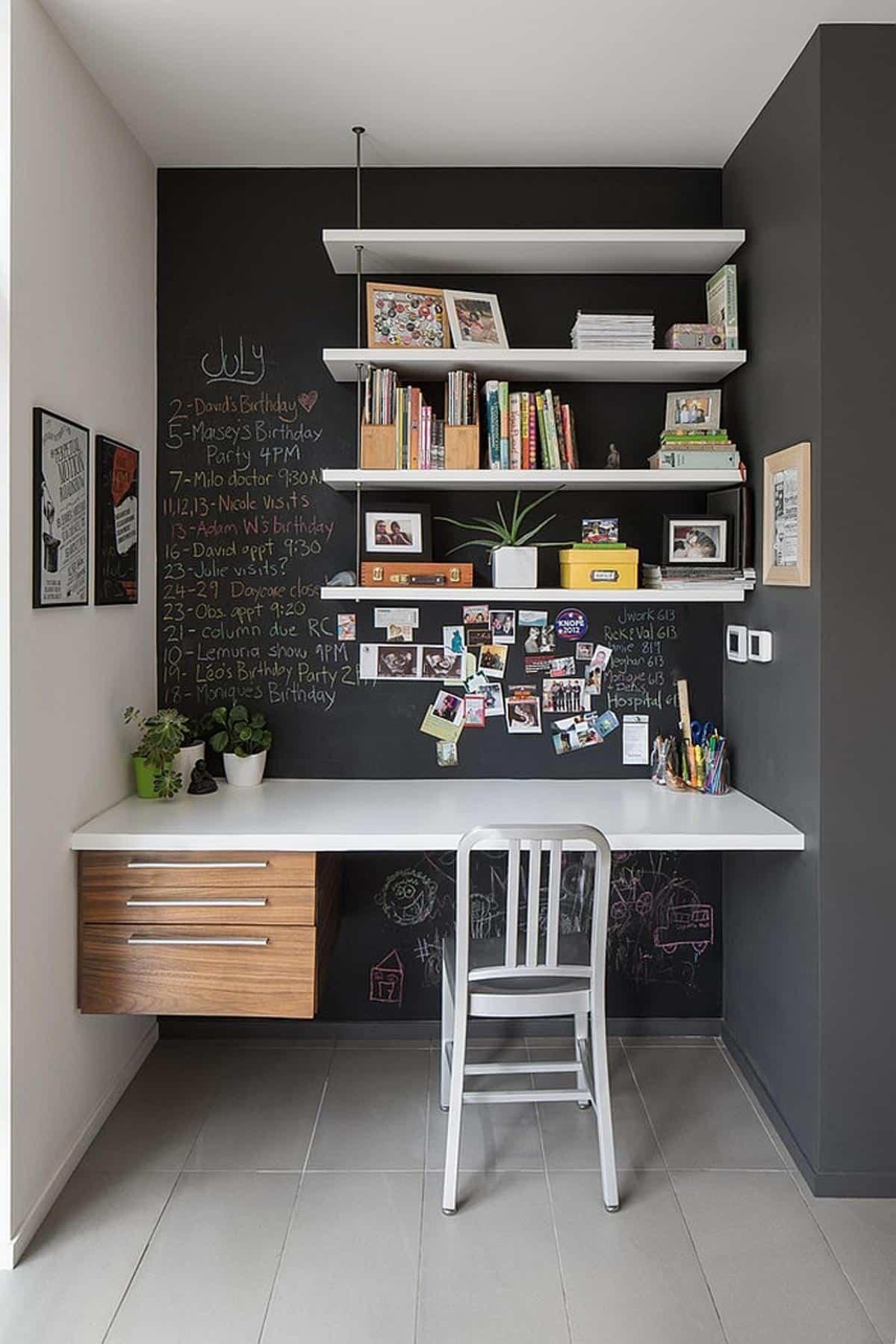 pintura de pizarra ideas y consejos para decorar la casa 12