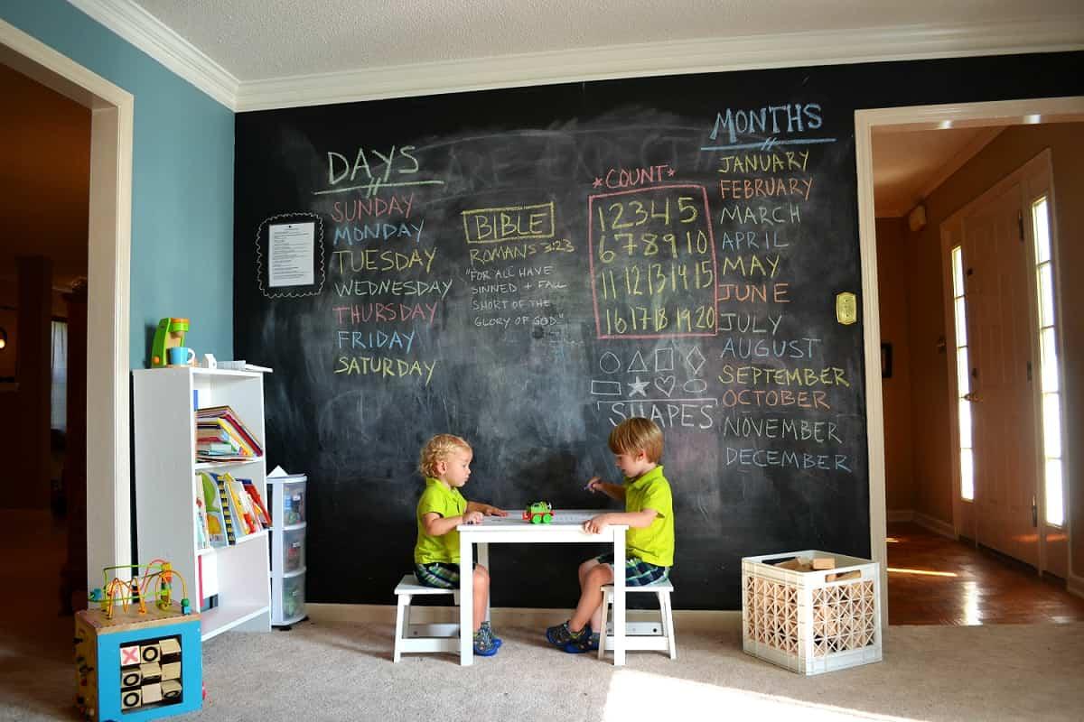 pintura de pizarra ideas y consejos para decorar la casa 16