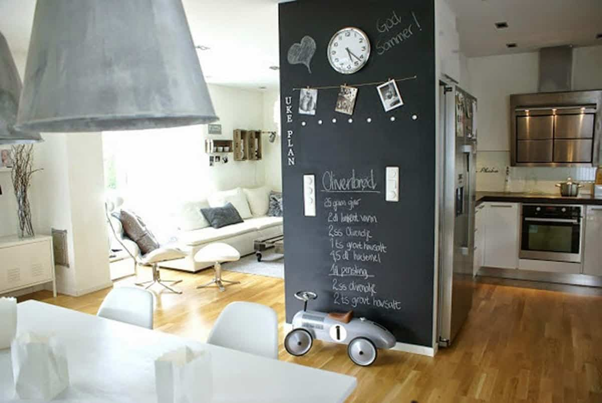 pintura de pizarra ideas y consejos para decorar la casa 9