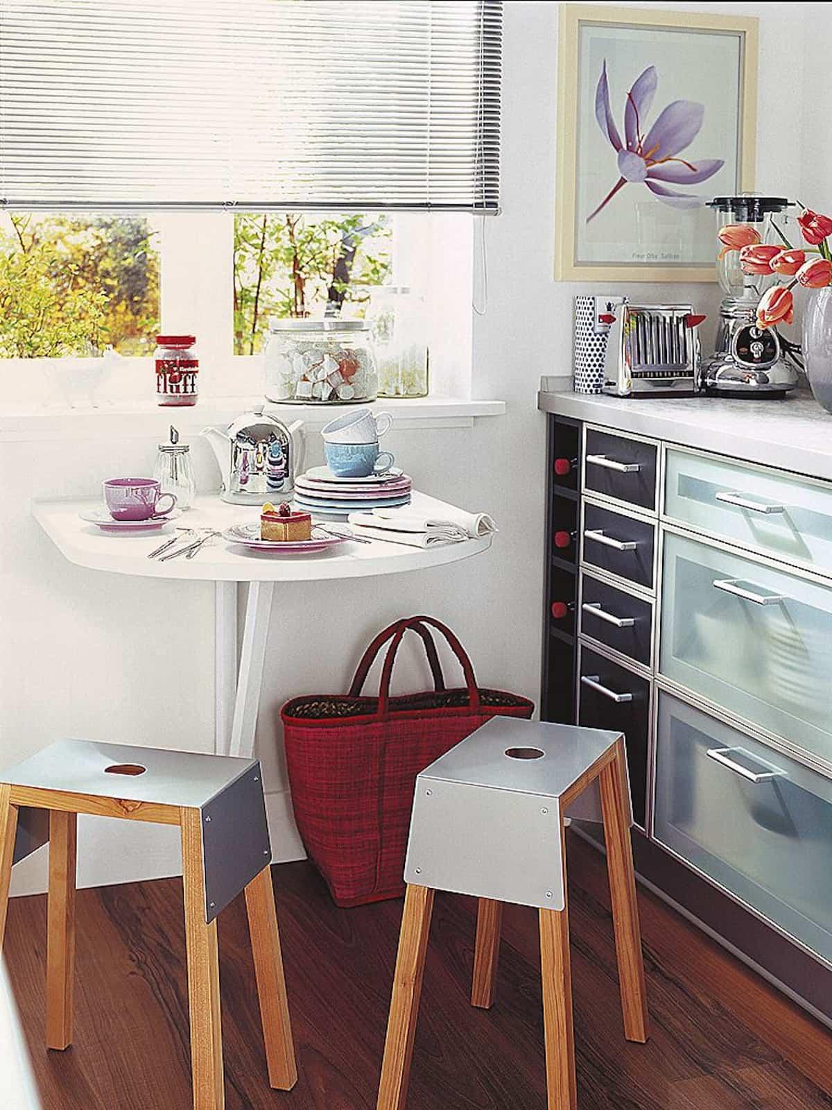 como crear una zona de desayuno en la cocina 11