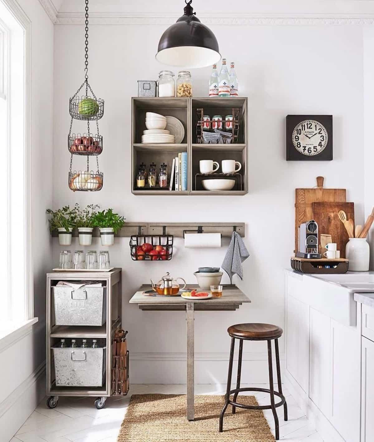 como crear una zona de desayuno en la cocina 12