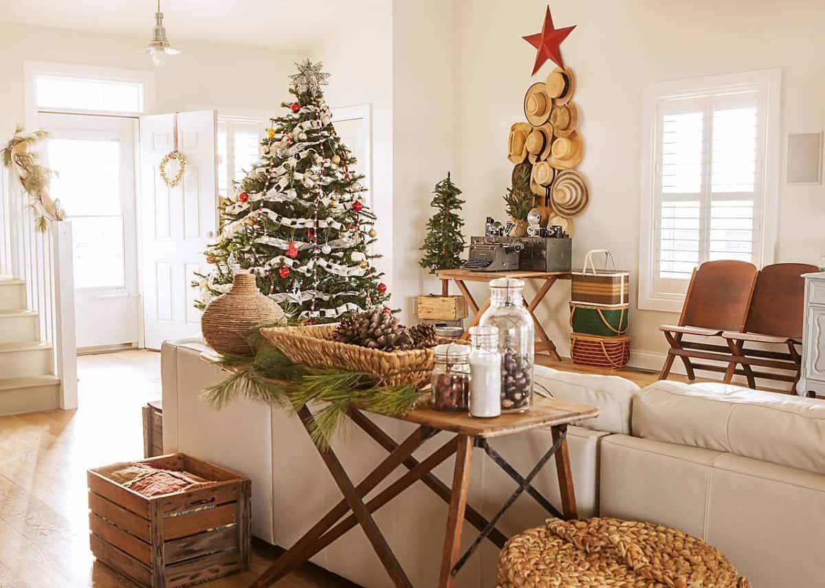 decoracion navidena de estilo rustico 1