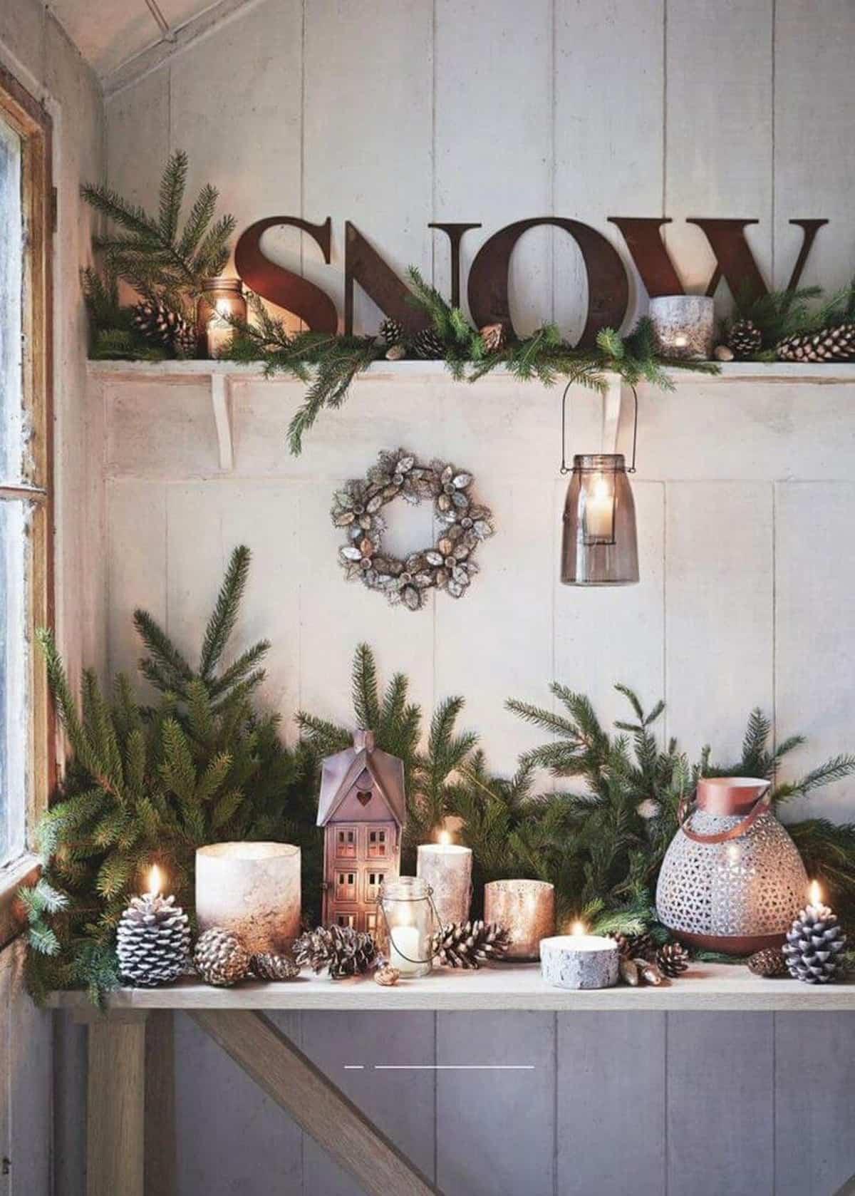 decoracion navidena de estilo rustico 12