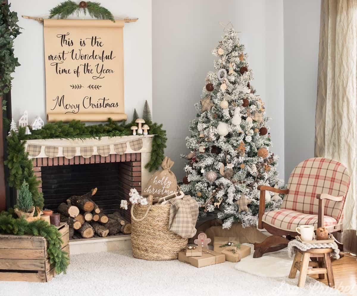 decoracion navidena de estilo rustico 2