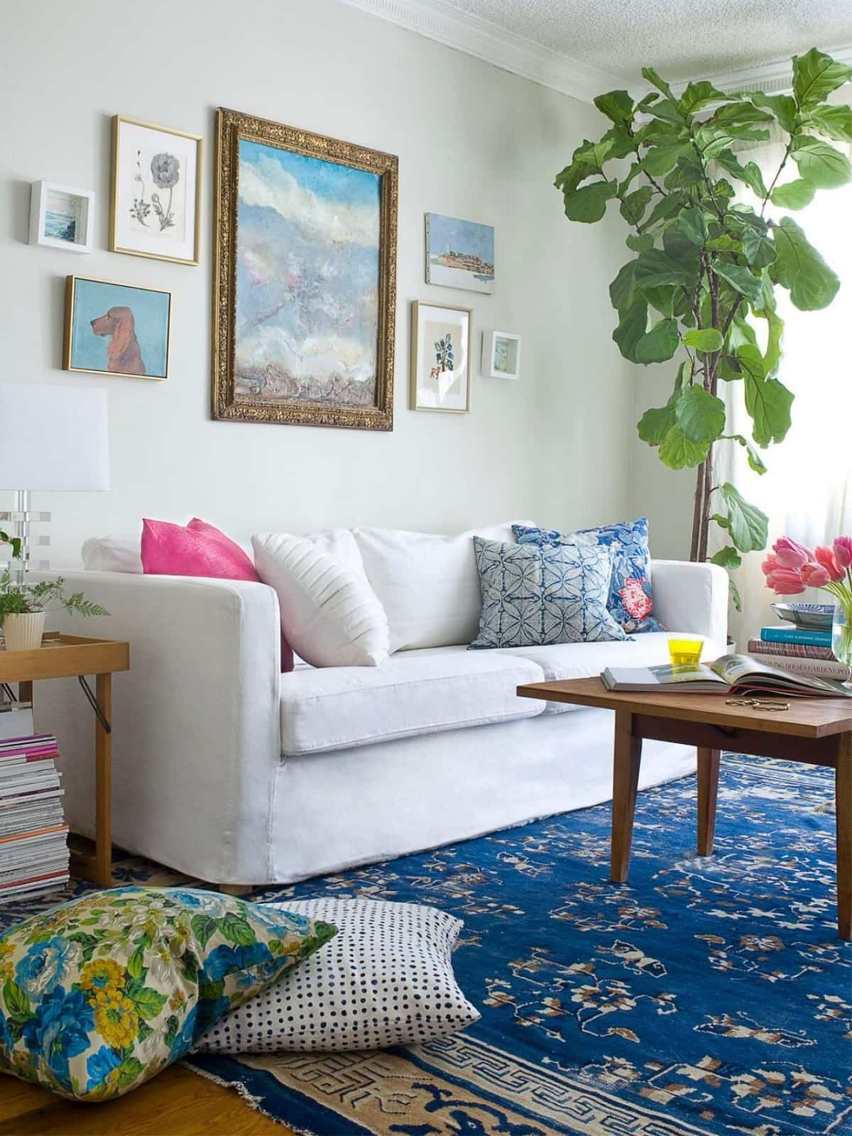 ideas para decorar la pared del sofa 15