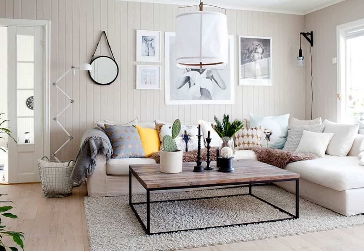 ideas para decorar la pared del sofa 4