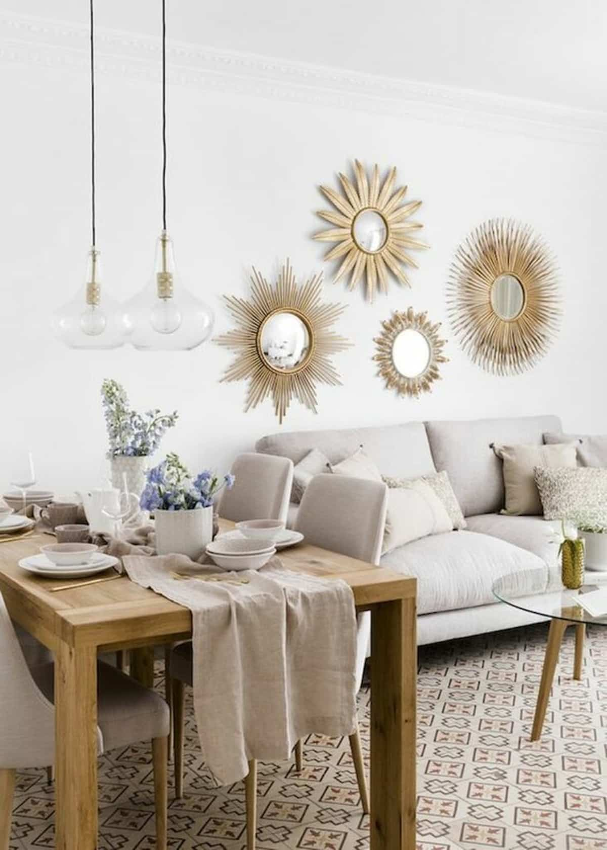 ideas para decorar la pared del sofa 7