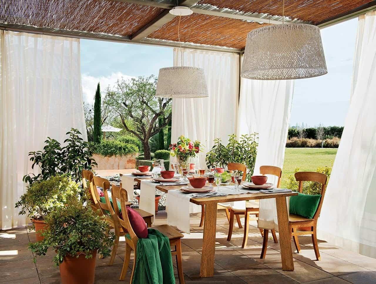 ideas para preparar un comedor de exterior en la terraza 1