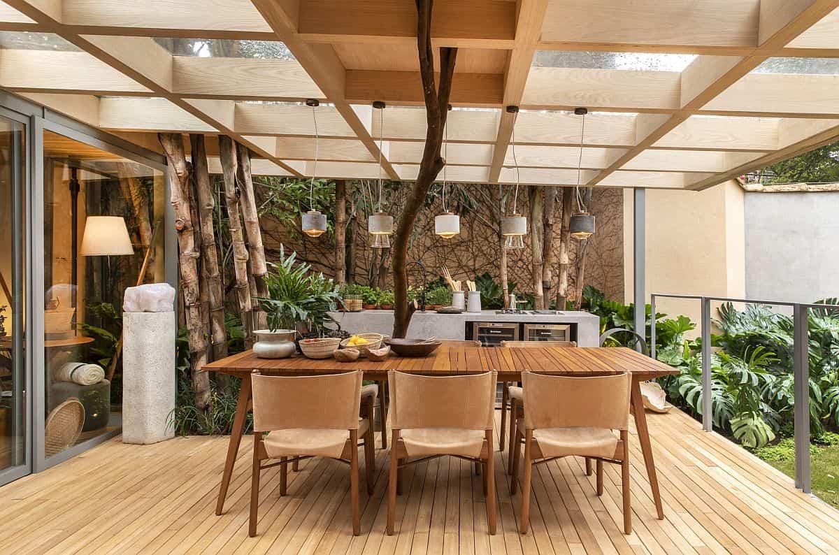 ideas para preparar un comedor de exterior en la terraza 11