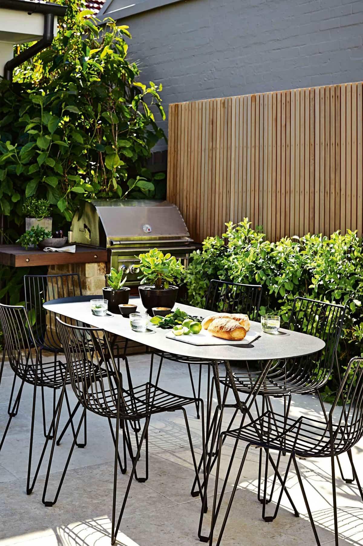 ideas para preparar un comedor de exterior en la terraza 3