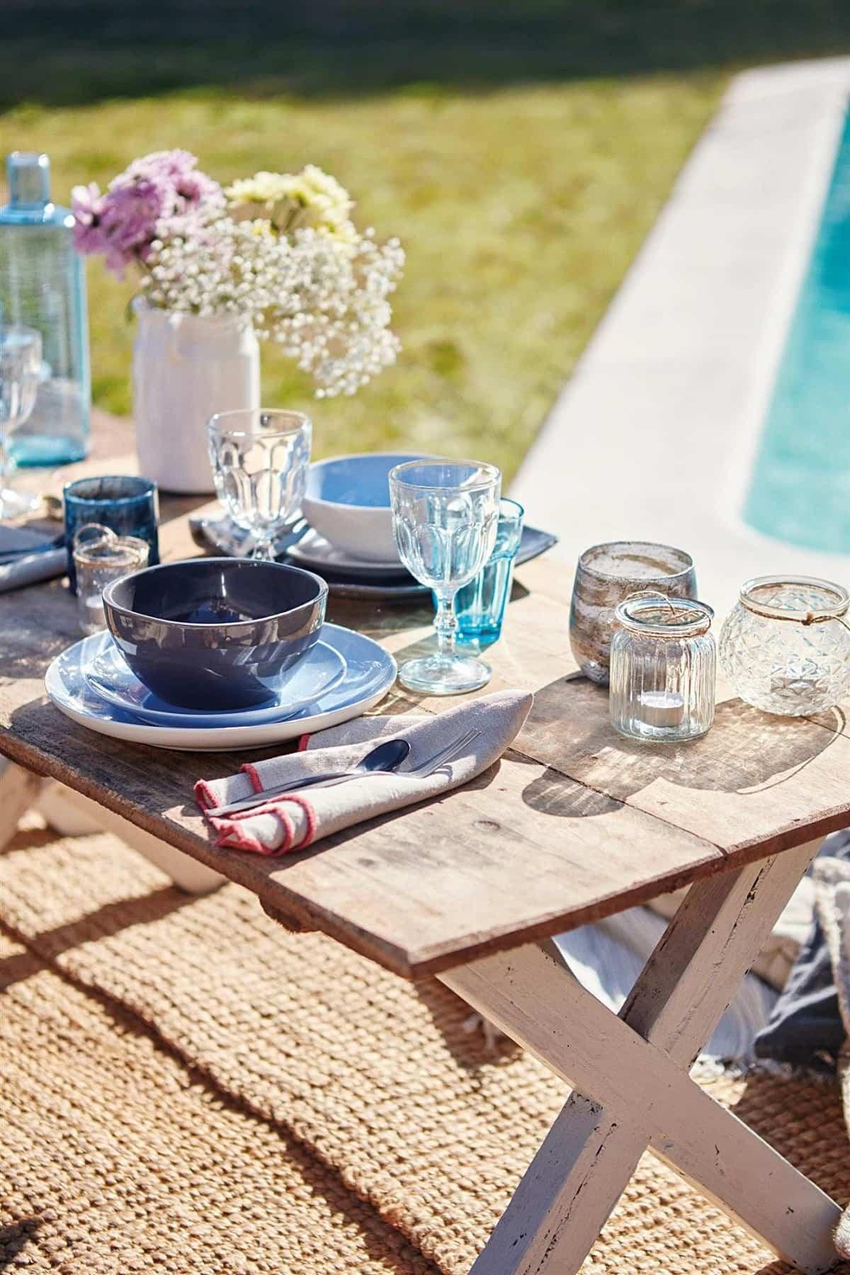 ideas para preparar un comedor de exterior en la terraza 5