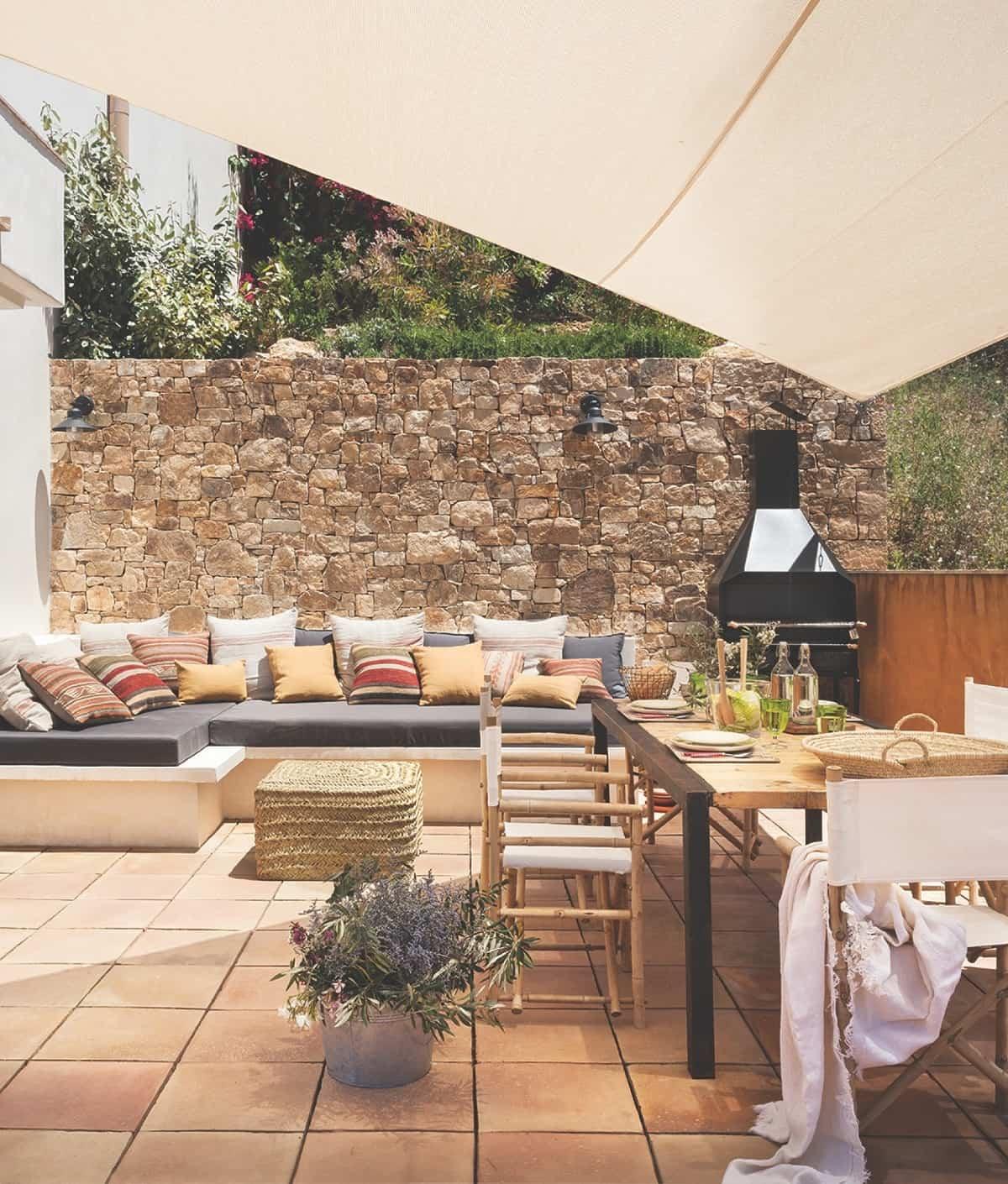 ideas para preparar un comedor de exterior en la terraza 6