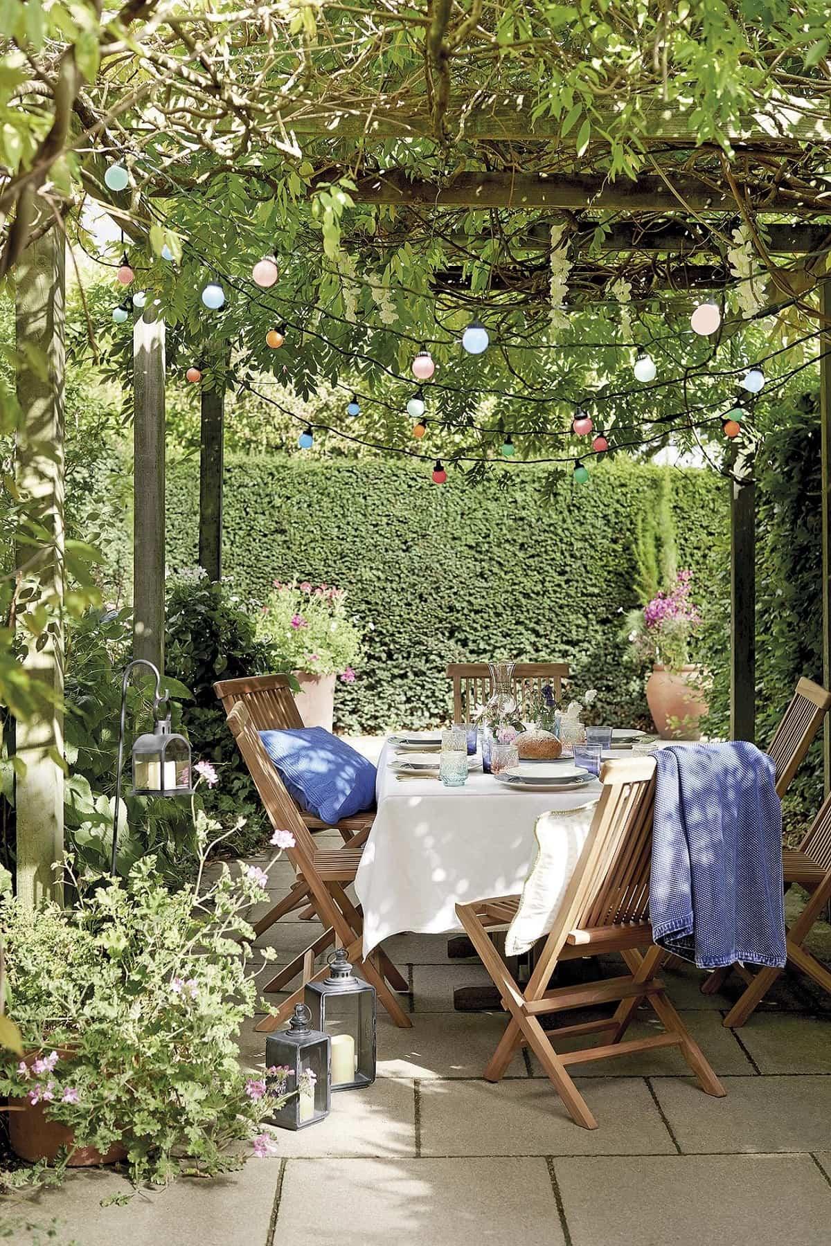 ideas para preparar un comedor de exterior en la terraza 9